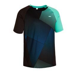 T-shirt de Badminton 560 Homem Verde Azul marinho