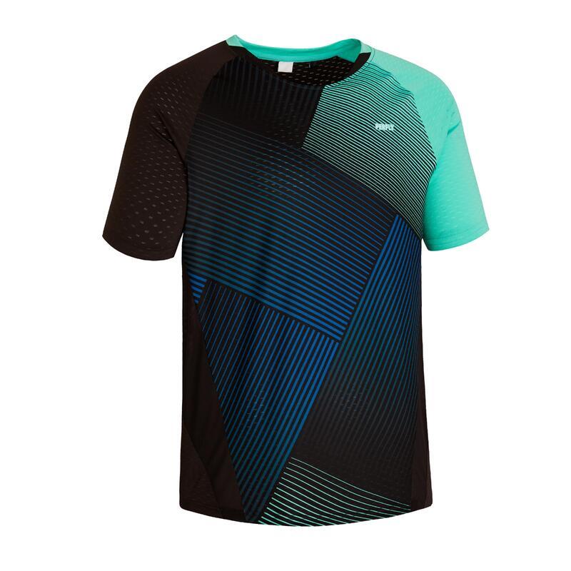 Badmintonshirt voor heren 560 groen/marineblauw