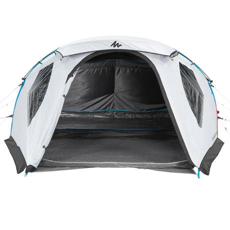 air seconds family 4 xl 4 person family camping tent fresh black quechua. Black Bedroom Furniture Sets. Home Design Ideas