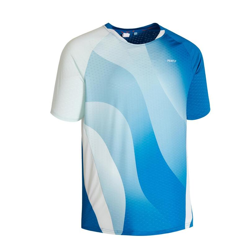 Badminton T-shirt voor heren 560 blauw