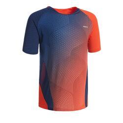 T-shirt de Badminton 560 Criança Vermelho Azul marinho