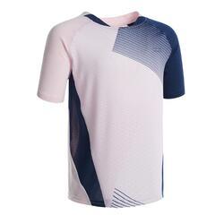 T-shirt de Badminton 560 Criança Rosa Azul marinho