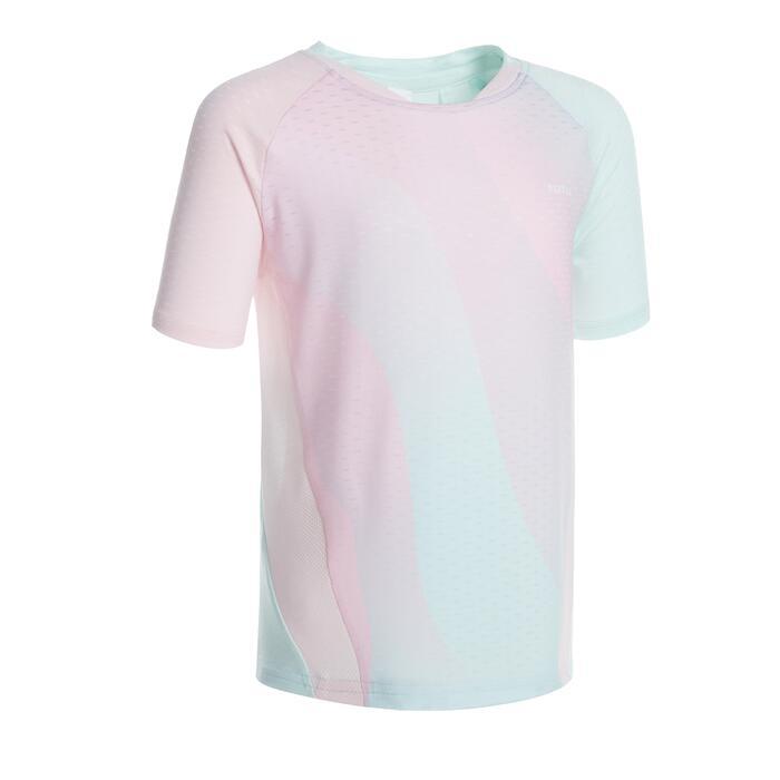 青少年款T恤560粉紅色配薄荷綠