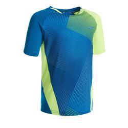 T-shirt de Badminton 560 Criança Azul Amarelo