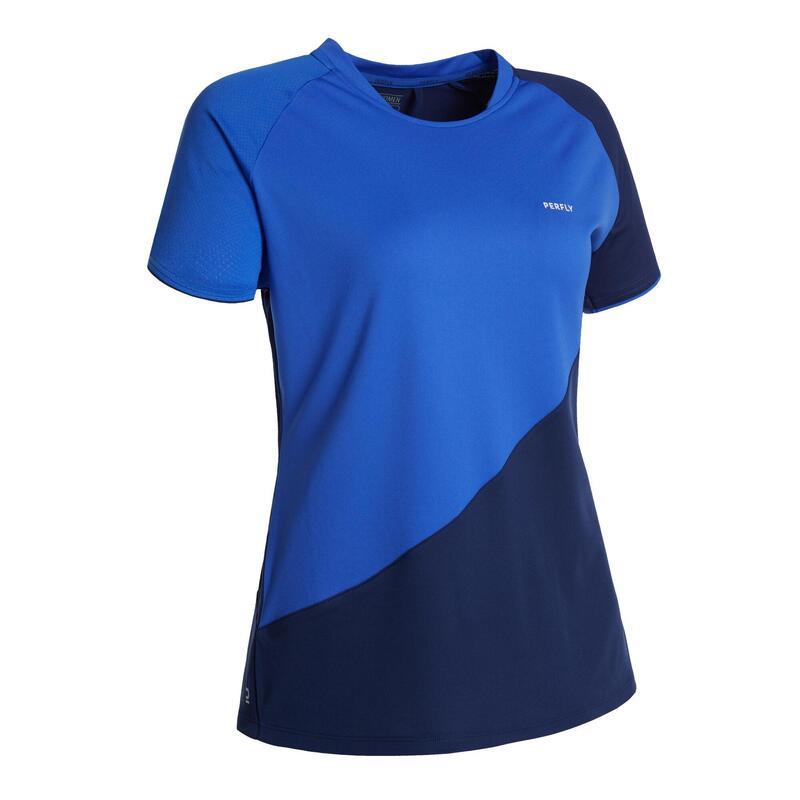 Badminton shirt voor dames 530 blauw