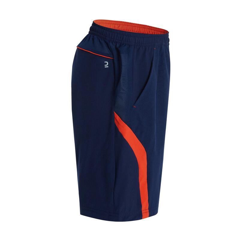 青少年款短褲560軍藍及紅色配色