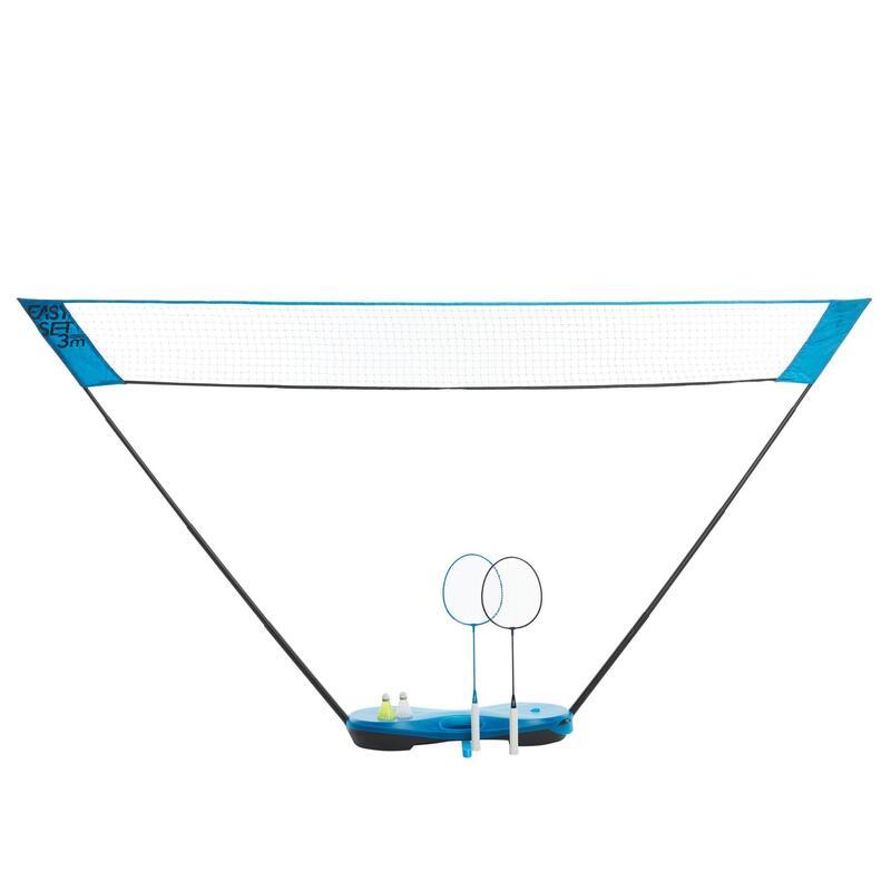 Badmintonset Easy Set 3 m pauwblauw