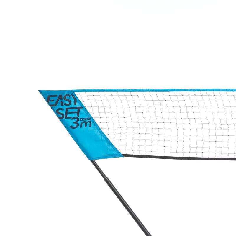 ชุดอุปกรณ์เล่นแบดมินตันรุ่น EASY SET ขนาด 3 ม. (สีฟ้า Peacock)