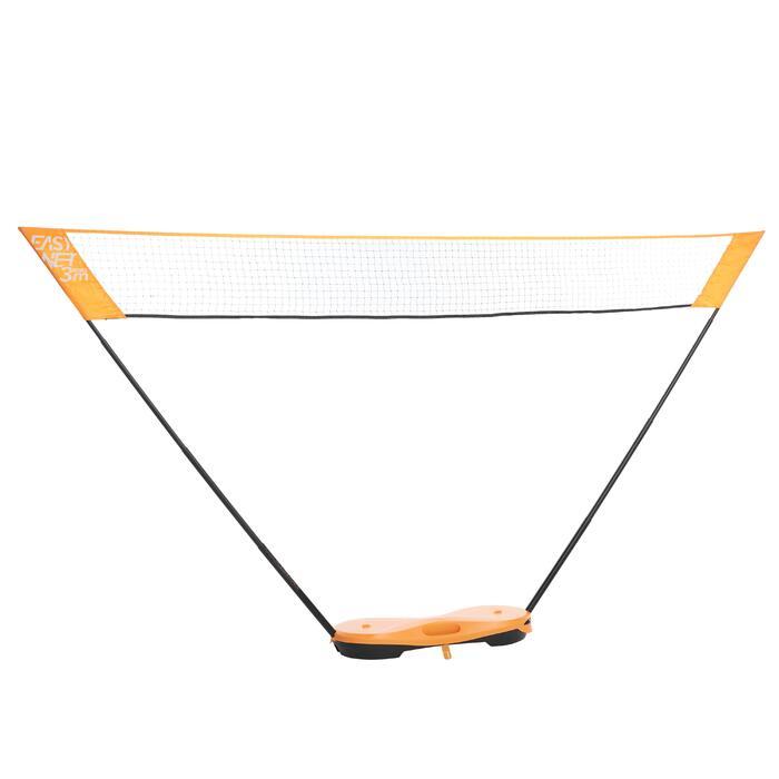 輕便可攜式羽球網3M橘色