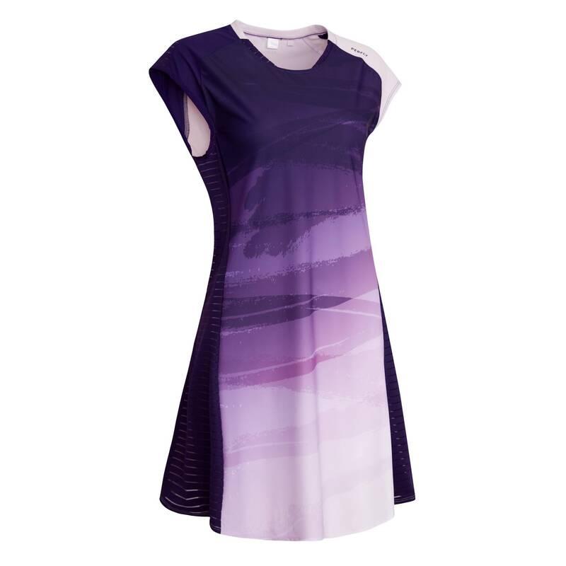 DÁMSKÉ OBLEČENÍ NA BADMINTON (ZKUŠENÉ) Dámské oblečení - ŠATY 900 FIALOVÉ PERFLY - Dámské oblečení