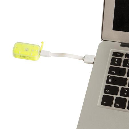 ÉCLAIRAGE VÉLO DEL VIOO ATTACHE 500 AVANT/ARRIERE JAUNE USB