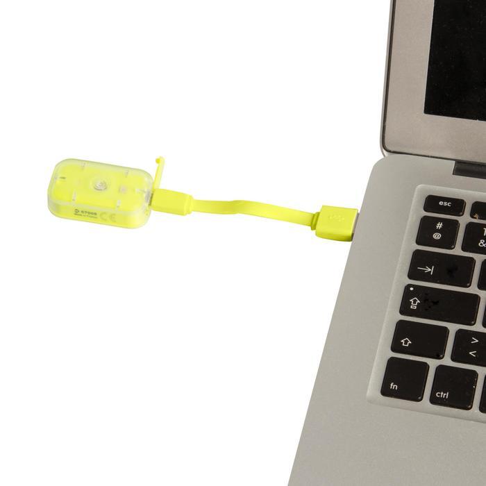 Fietsverlichting op led CL 500 voor- en achteraan USB Vioo Clip geel