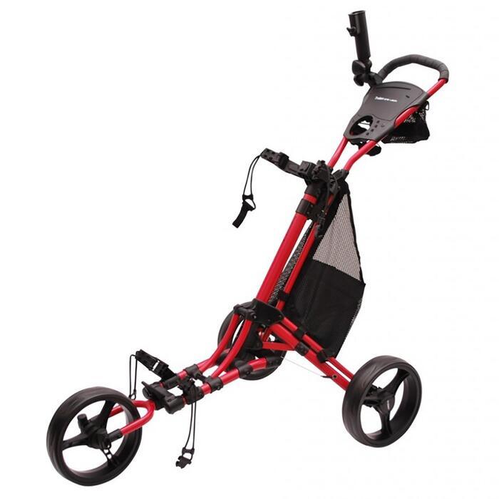 Chariot de golf 3 roues One lock rouge