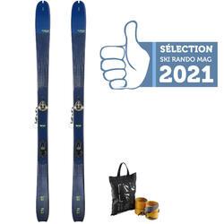 Ski voor toerskiën Mountain Touring MT85 met bindingen
