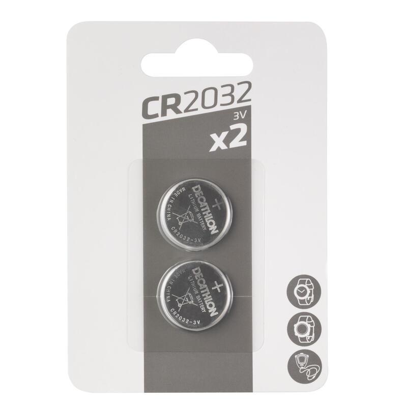 Lot de 2 piles bouton lithium CR2032