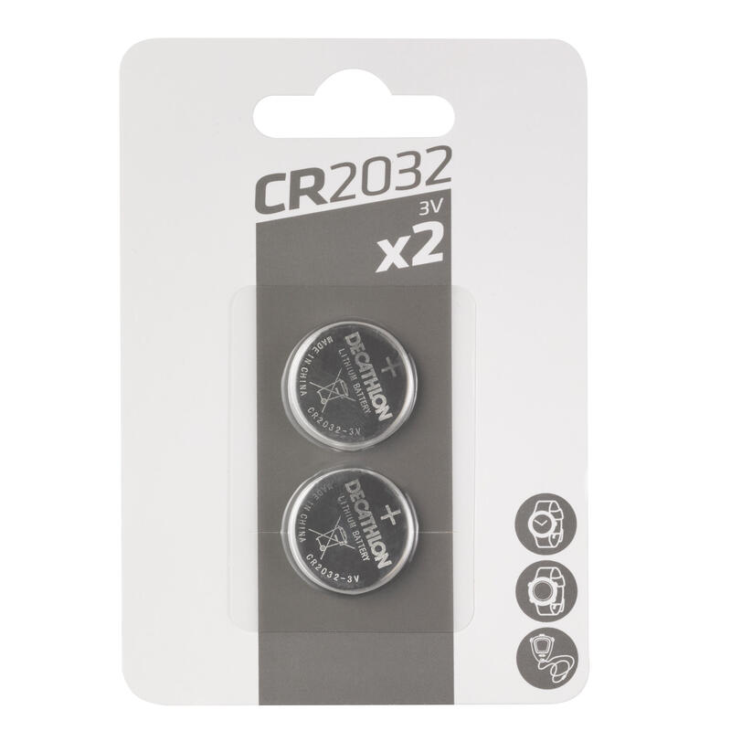 Pack of Two Lithium Button Batteries