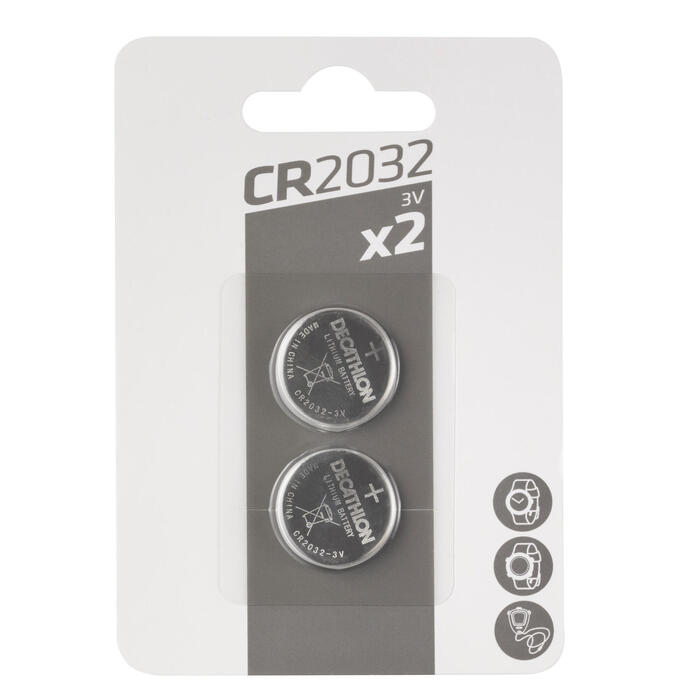 Pack of 2 lithium button batteries CR2032