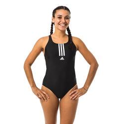 Sportbadpak voor zwemmen dames SH3RO zwart/wit