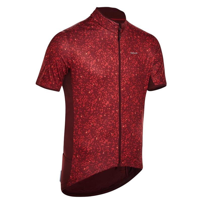 Fietsshirt met korte mouwen RC500 Limited Edition Terrazzo bordeaux