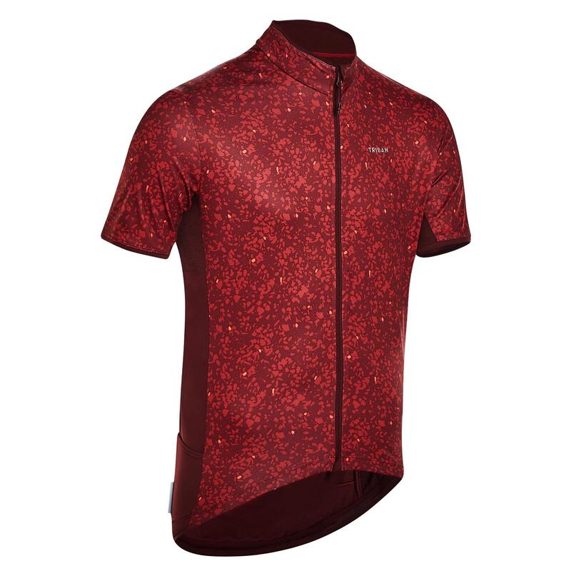 MAILLOT MANCHES COURTES RC500 LIMITED EDITION TERRAZZO BORDEAUX