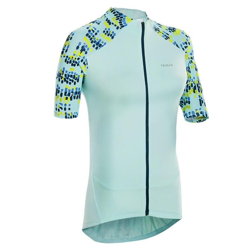 MAILLOT VELO MANCHES COURTES FEMME 500 GLOW MENTHE