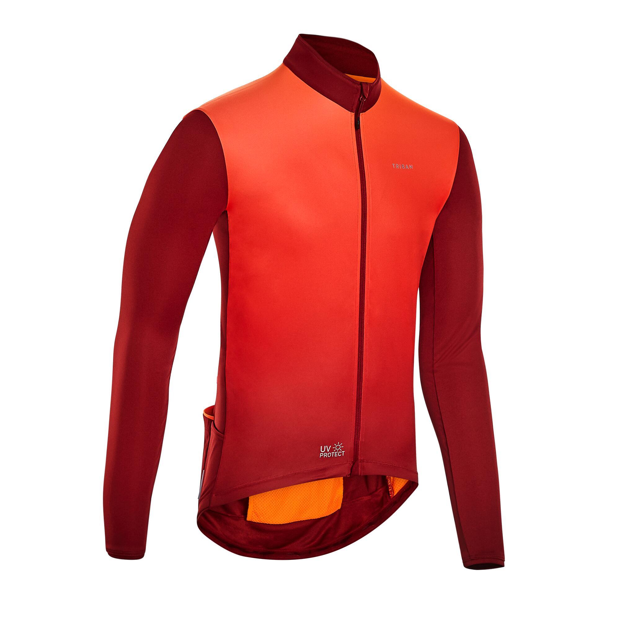 Bluză ciclism RC 500 Bordo imagine