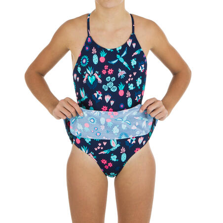 One-piece swimsuit with skirt - Girls