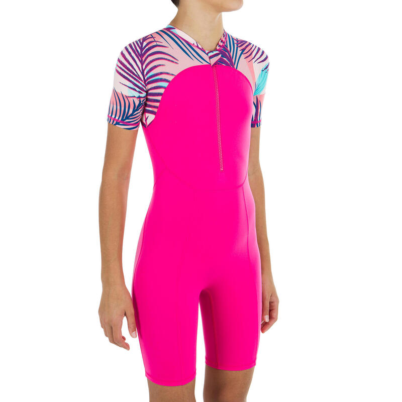 Girls' shorty swimsuit - Sola Pink