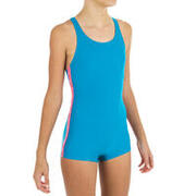 One-piece shorty swimsuit - turquoise blue