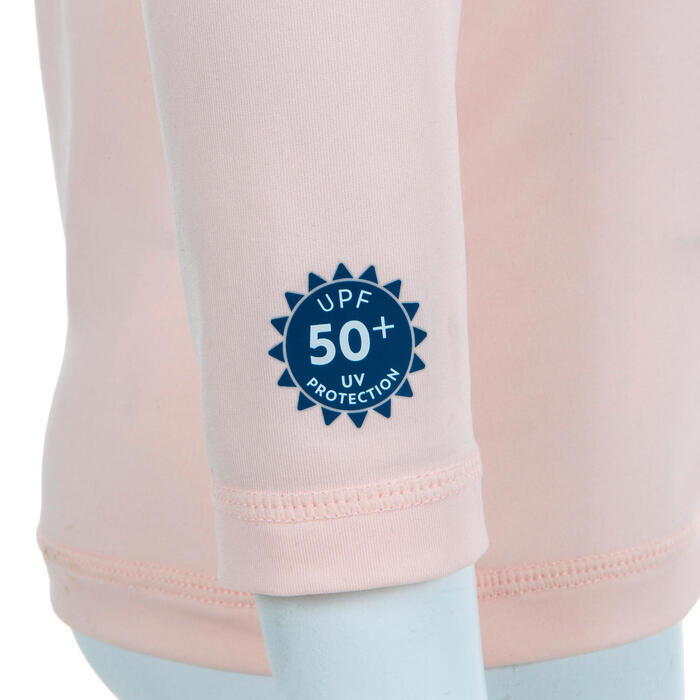 T-shirt anti UV bébé manches longues rose