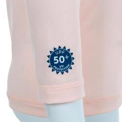 嬰兒款抗紫外線T恤 - 粉紅色
