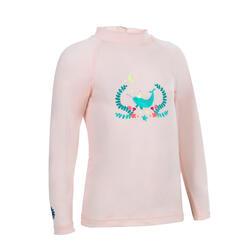 UV-Shirt langarm Babys/Kleinkinder rosa