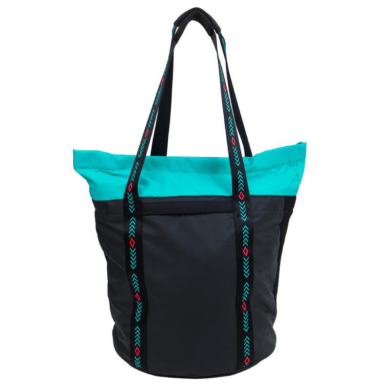 Zwemtas shopper Kbag zwart/blauw