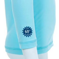 Licra Solar Bebé Manga Comprida Azul