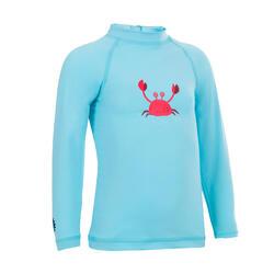 UV-Shirt langarm Babys/Kleinkinder blau