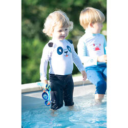 UV-Schwimmanzug langarm Babys/Kleinkinder bedruckt blau