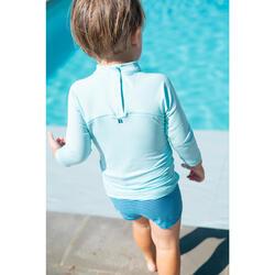 T-shirt anti UV bébé manches longues bleu