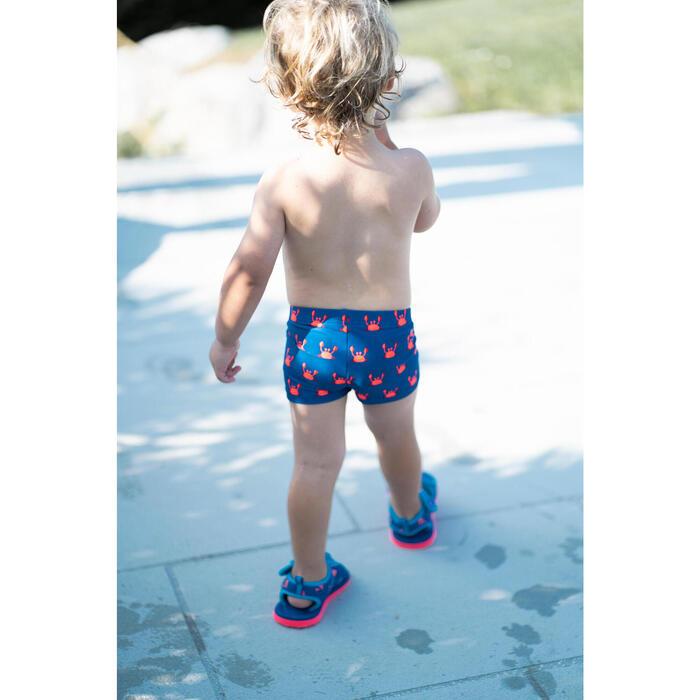 Boxer de bain bébé / enfant bleu imprimé CRABES