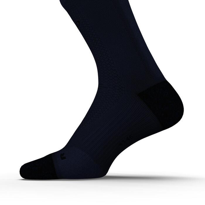 Dikke enkelsokken voor hardlopen Kiprun marineblauw