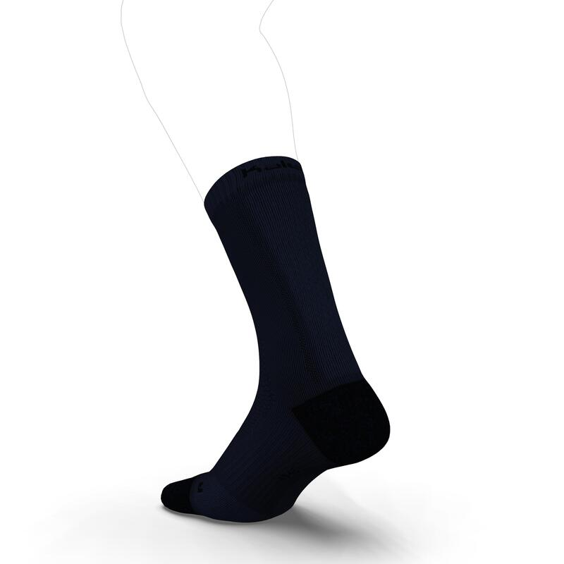 Kiprun Thick Under-Calf Running Socks Dark Blue