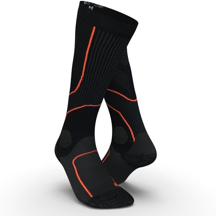 Compressiekousen voor hardlopen zwart/rood