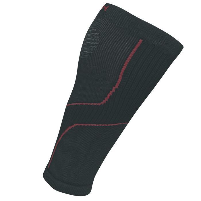 跑步壓力襪 - 灰色/粉色