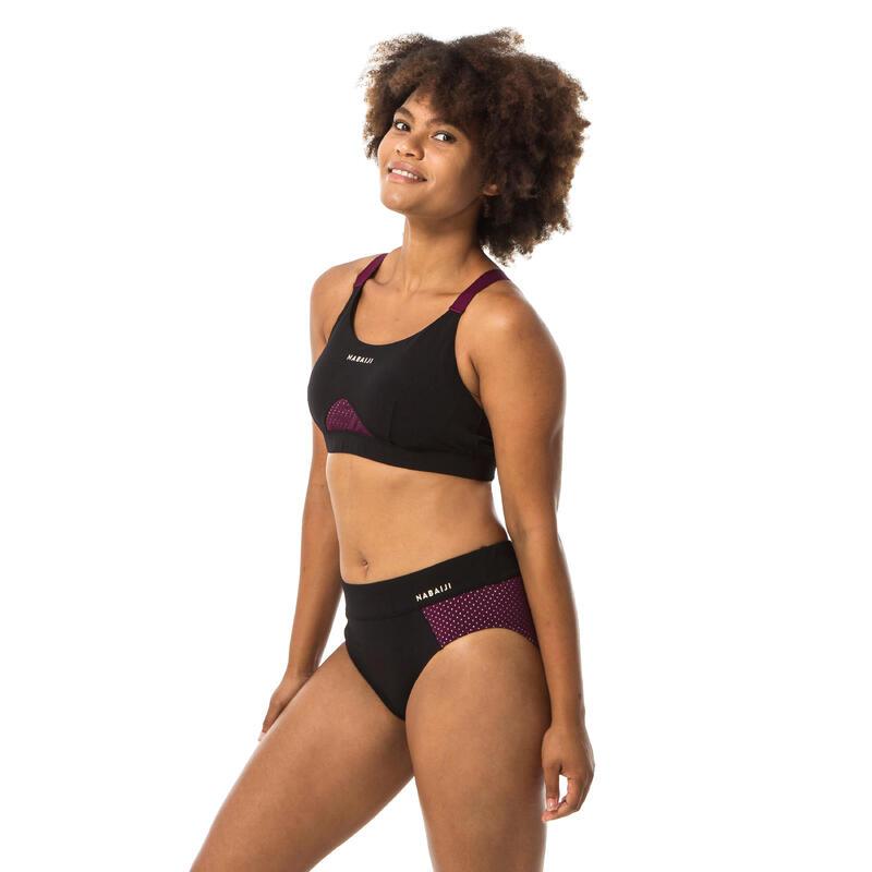 Top Bikini Deportivo Aquafitness Mujer Nabaiji Elea Negro