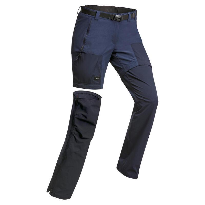 Pantalon modulable de trek montagne - MT 500 navy - femme