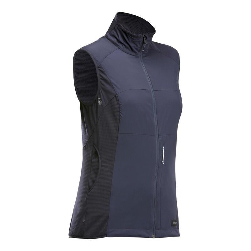Dámská turistická větruodolná vesta Trek 500 tmavě modrá
