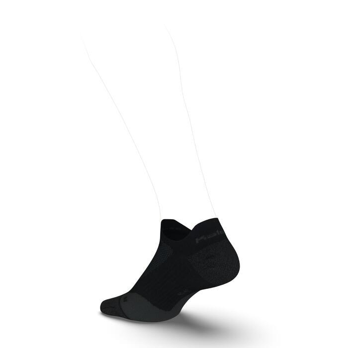 Dünne Laufsocken Kiprun invisible schwarz