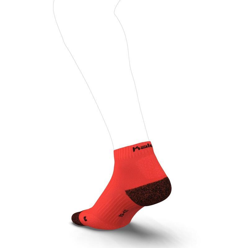 RUNNING MID-HEIGHT THICK SOCKS KIPRUN - CORAL