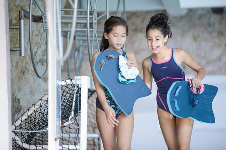 Maillot de bain de natation une pièce filles résistant au chlore Kamiye + bleu