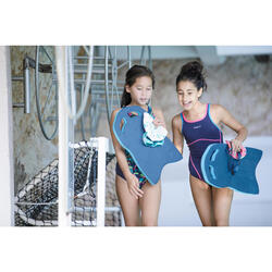 Maillot de bain une pièce de natation fille Kamiye + Bleu