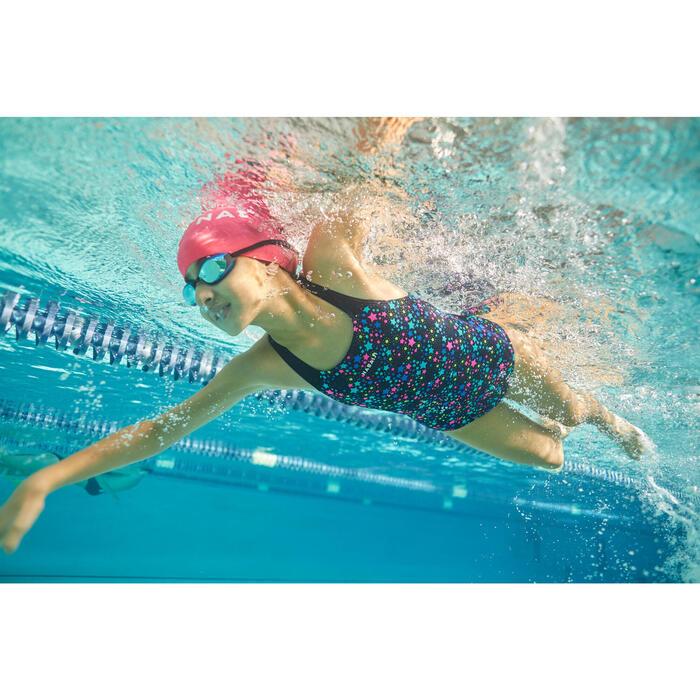 Maillot de bain de natation une pièce fille Kamyleon Star noir jaune
